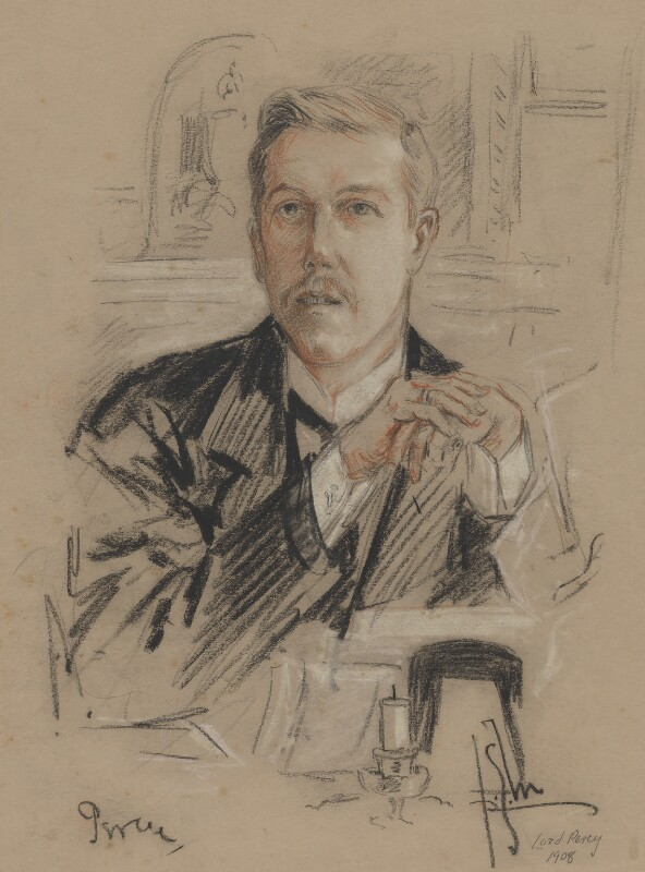 Henry Algernon George Percy, Earl Percy, by Richard George Mathews, 1908 - NPG 6733 - © estate of Richard George Mathews / National Portrait Gallery, London