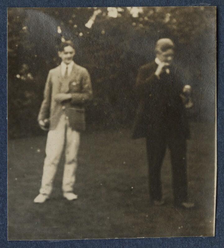 T.S. Eliot; Sir John Tresidder Sheppard, by Lady Ottoline Morrell, 1920 - NPG Ax140846 - © National Portrait Gallery, London
