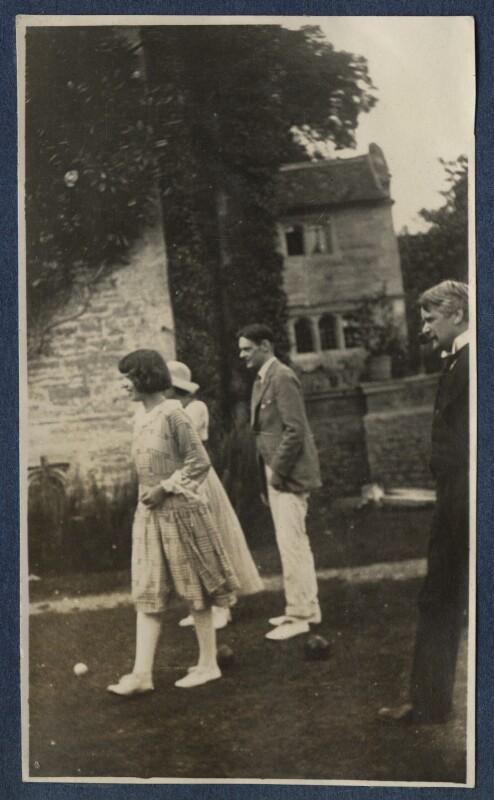 Julian Vinogradoff (née Morrell); Maria Huxley (née Nys); T.S. Eliot; Sir John Tresidder Sheppard, by Lady Ottoline Morrell, 1920 - NPG Ax140847 - © National Portrait Gallery, London