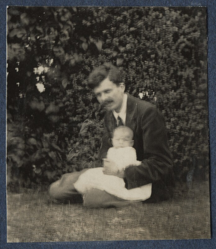 Aldous Huxley; Matthew Huxley, by Lady Ottoline Morrell, 1920 - NPG Ax140861 - © National Portrait Gallery, London