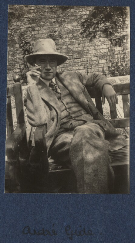 André Gide, by Lady Ottoline Morrell, August 1920 - NPG Ax140868 - © National Portrait Gallery, London