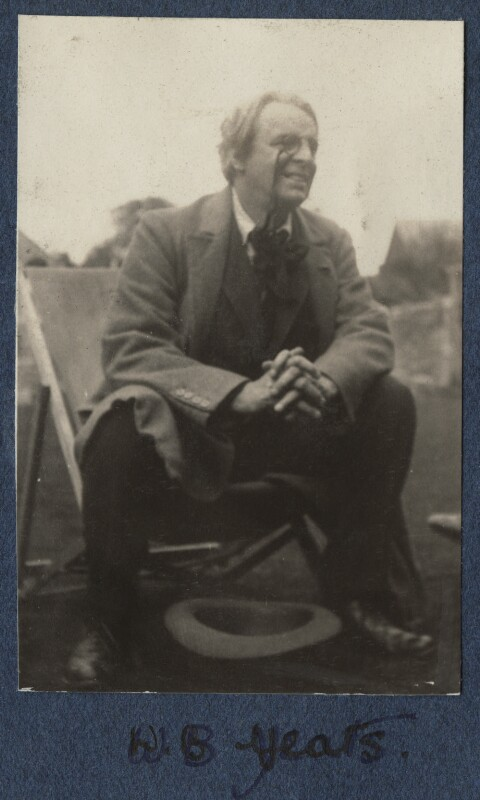 W.B. Yeats, by Lady Ottoline Morrell, August 1920 - NPG Ax140871 - © National Portrait Gallery, London