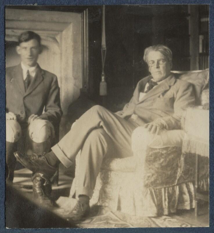 Siegfried Loraine Sassoon; W.B. Yeats, by Lady Ottoline Morrell, September 1920 - NPG Ax140878 - © National Portrait Gallery, London