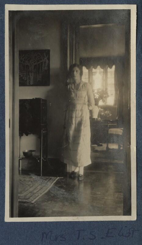 Vivienne ('Vivien') Eliot (née Haigh-Wood), by Lady Ottoline Morrell, 1920 - NPG Ax140893 - © National Portrait Gallery, London