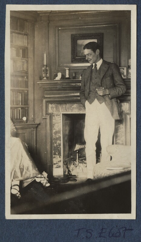 Lady Ottoline Morrell; T.S. Eliot, possibly by Lady Ottoline Morrell, 1920 - NPG Ax140903 - © National Portrait Gallery, London