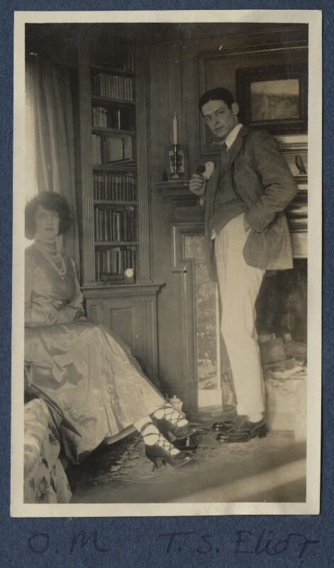 Lady Ottoline Morrell; T.S. Eliot, possibly by Lady Ottoline Morrell, 1920 - NPG Ax140905 - © National Portrait Gallery, London