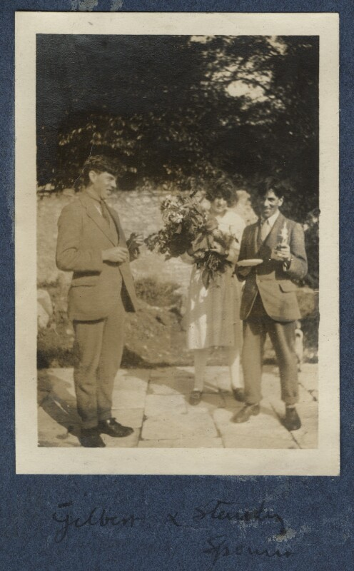 Gilbert Spencer; Julian Vinogradoff (née Morrell); Sir Stanley Spencer, by Lady Ottoline Morrell, 1920 - NPG Ax140906 - © National Portrait Gallery, London