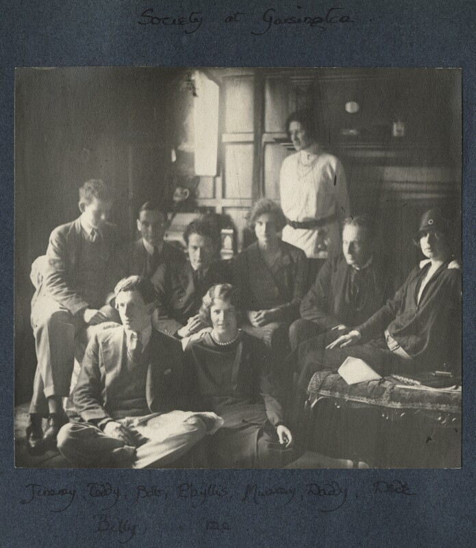 'Society at Garsington', possibly by Lady Ottoline Morrell, mid 1920s - NPG Ax141019 - © National Portrait Gallery, London