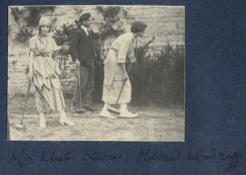 Vivienne ('Vivien') Eliot (née Haigh-Wood); Peter Stainer; Mildred Woodruff, by Lady Ottoline Morrell, 1921 - NPG Ax141227 - © National Portrait Gallery, London