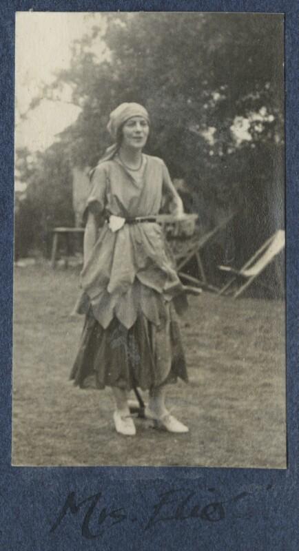 Vivienne ('Vivien') Eliot (née Haigh-Wood), by Lady Ottoline Morrell, 1921 - NPG Ax141232 - © National Portrait Gallery, London