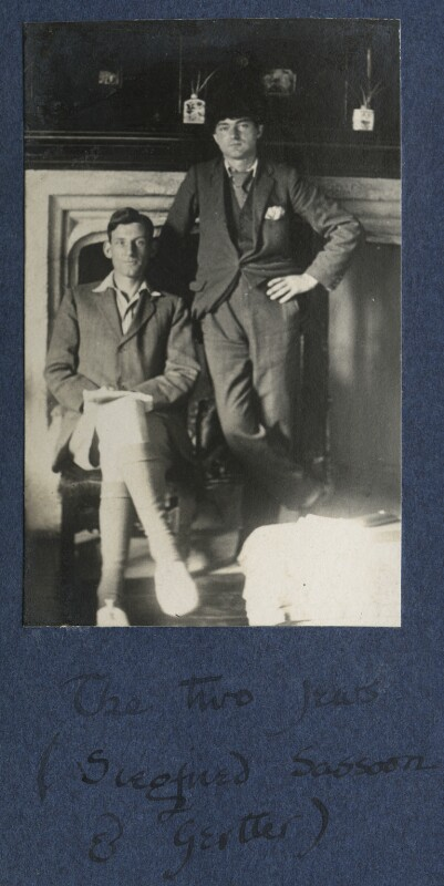'The two Jews' (Siegfried Sassoon; Mark Gertler), by Lady Ottoline Morrell, 1921 - NPG Ax141233 - © National Portrait Gallery, London
