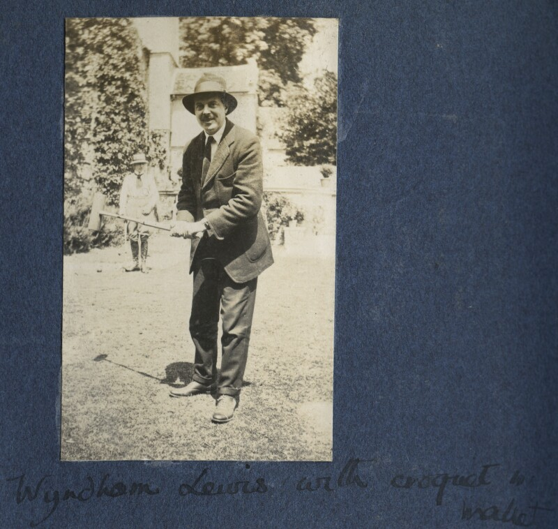 Wyndham Lewis, by Lady Ottoline Morrell, 1922 - NPG Ax141272 - © National Portrait Gallery, London
