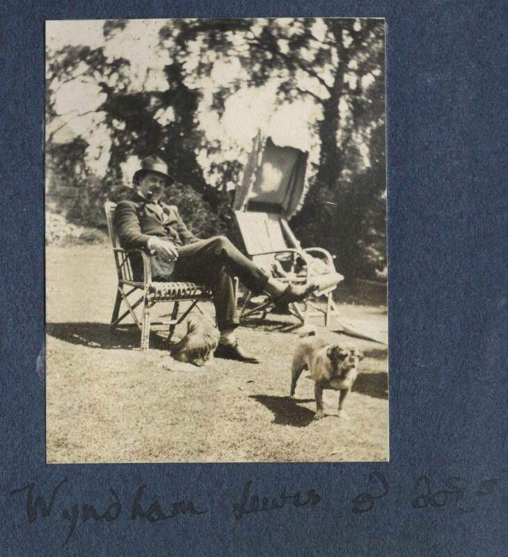 Wyndham Lewis, by Lady Ottoline Morrell, 1922 - NPG Ax141274 - © National Portrait Gallery, London