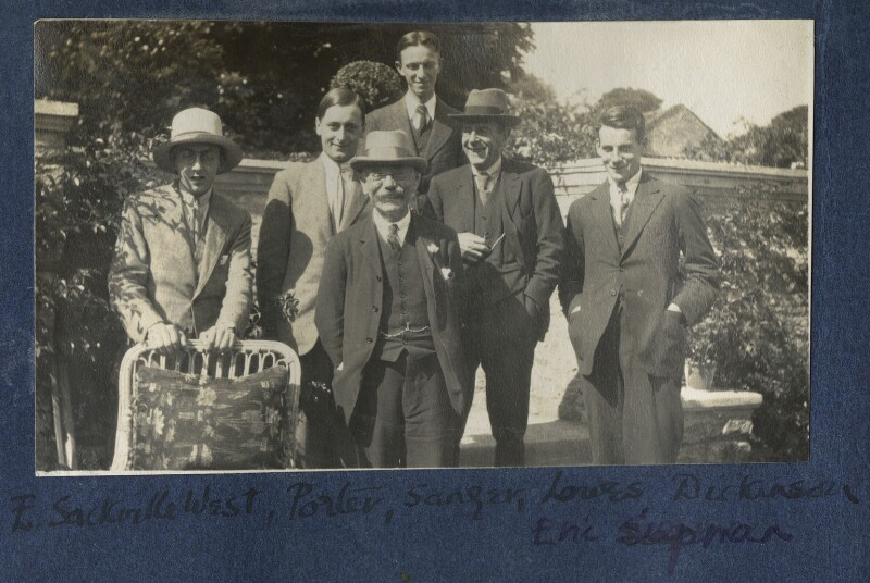 Group of visitors at Garsington, by Lady Ottoline Morrell, 1922 - NPG Ax141276 - © National Portrait Gallery, London