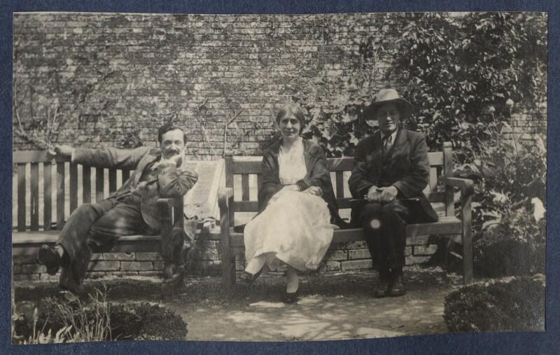 Simon Bussy; Vanessa Bell; Duncan Grant, by Lady Ottoline Morrell, 1922 - NPG Ax141318 - © National Portrait Gallery, London