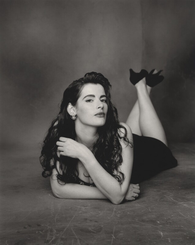 Nigella Lawson, by Dan Kenyon, October 1991 - NPG x127297 - © Dan Kenyon / National Portrait Gallery, London