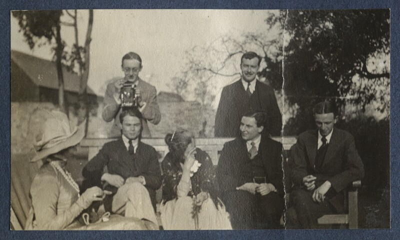 Lady Ottoline Morrell with friends, by Unknown photographer, 1922 - NPG Ax141359 - © National Portrait Gallery, London