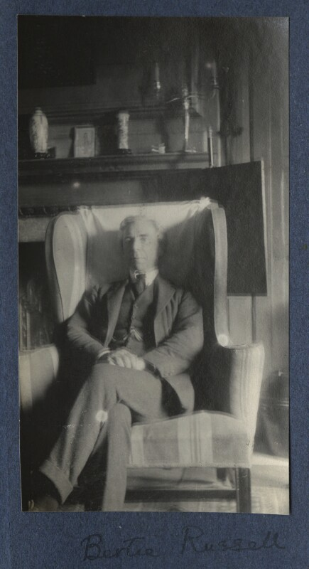 Bertrand Arthur William Russell, 3rd Earl Russell, by Lady Ottoline Morrell, 1922 - NPG Ax141362 - © National Portrait Gallery, London
