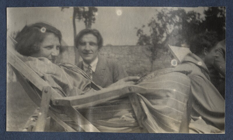 Mary Blunden (née Daines); Edmund Blunden; Lord David Cecil, by Lady Ottoline Morrell, 1923 - NPG Ax141422 - © National Portrait Gallery, London