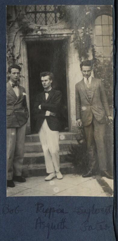 Hon. Robert Gathorne-Hardy; Anthony Asquith; Sylvester Govett Gates, by Lady Ottoline Morrell, 1923 - NPG Ax141426 - © National Portrait Gallery, London