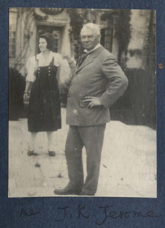 Julian Vinogradoff (née Morrell); Jerome Klapka Jerome, by Lady Ottoline Morrell, 1923 - NPG Ax141433 - © National Portrait Gallery, London