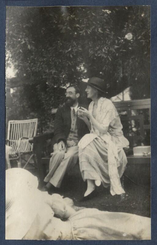 Lytton Strachey; Virginia Woolf, by Lady Ottoline Morrell, June 1923 - NPG Ax141460 - © National Portrait Gallery, London