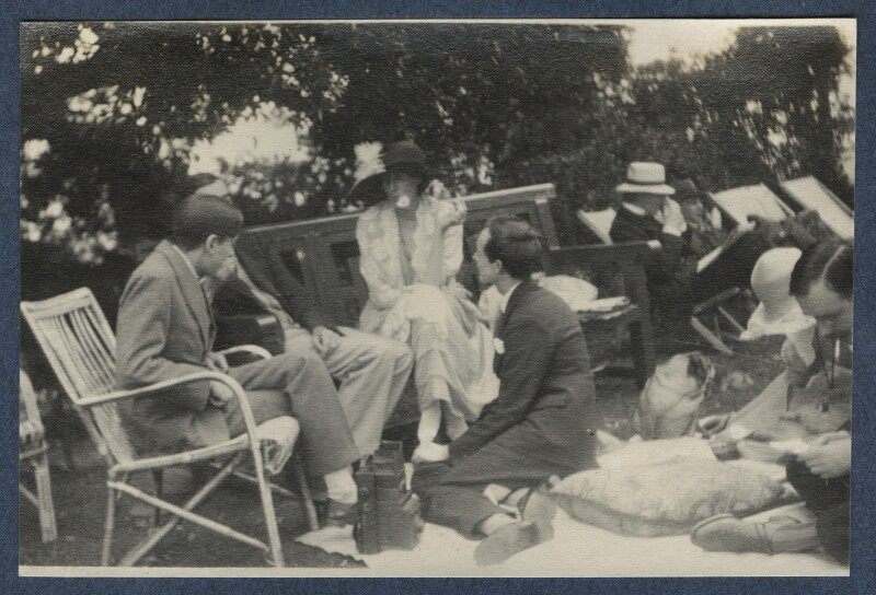 Garsington visitors, by Lady Ottoline Morrell, June 1923 - NPG Ax141462 - © National Portrait Gallery, London