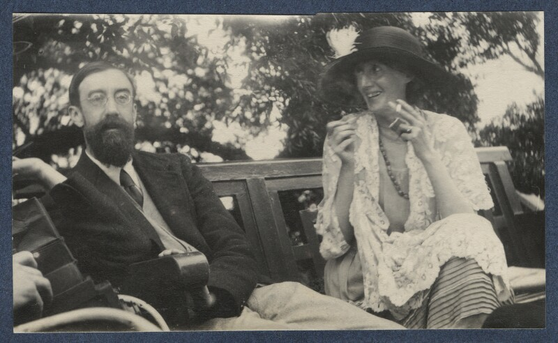 Lytton Strachey; Virginia Woolf, by Lady Ottoline Morrell, June 1923 - NPG Ax141463 - © National Portrait Gallery, London