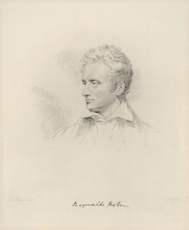 Reginald Heber, by Frederick Christian Lewis Sr, after  Joseph Slater, 1823 (1820) - NPG D20595 - © National Portrait Gallery, London