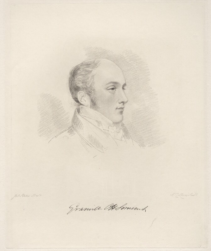 Lord Granville Somerset, by Frederick Christian Lewis Sr, after  Joseph Slater, 1826 or after - NPG D20605 - © National Portrait Gallery, London