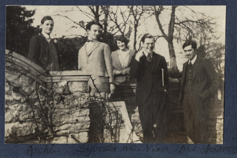 Group including Julian Morrell and Igor Vinogradoff, by Lady Ottoline Morrell, March 1924 - NPG Ax141495 - © National Portrait Gallery, London