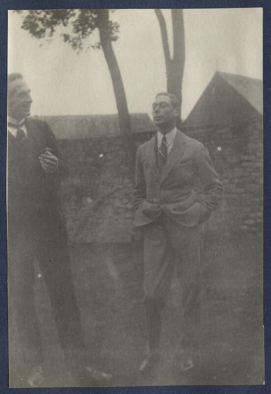 Philip Edward Morrell; King George VI, by Lady Ottoline Morrell, February 1923 - NPG Ax141502 - © National Portrait Gallery, London
