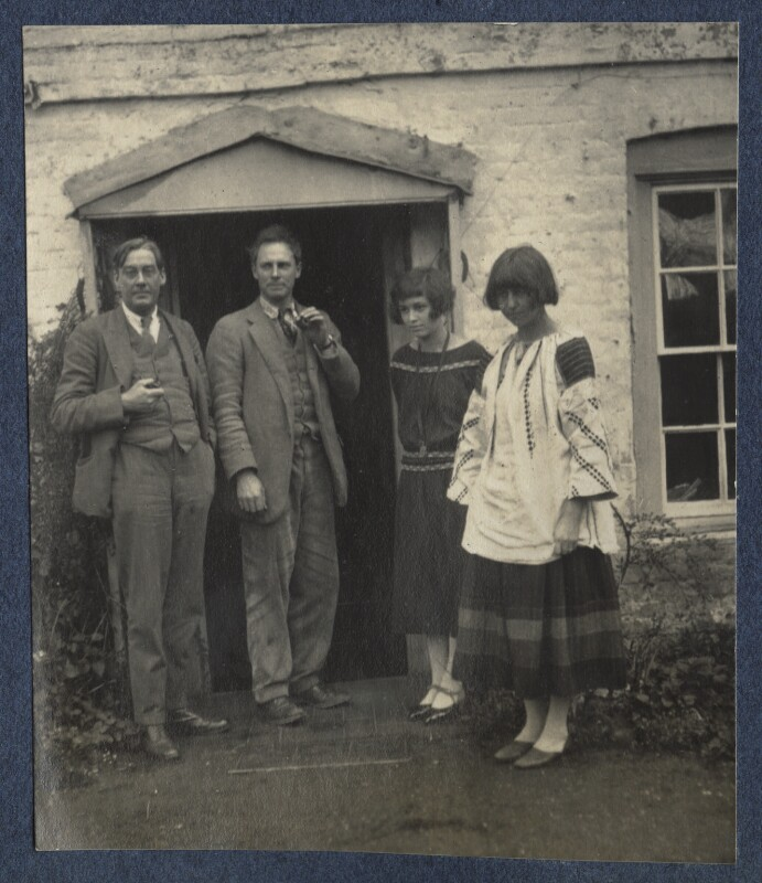 Oliver Strachey; Ralph Partridge; Frances Partridge; Dora Carrington, by Lady Ottoline Morrell, 1923 - NPG Ax141541 - © National Portrait Gallery, London