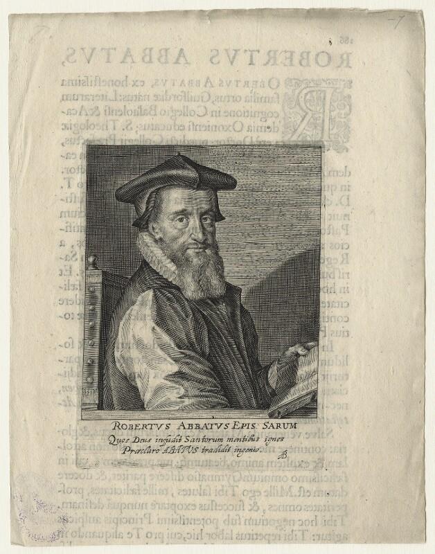 Robert Abbot, by Magdalena de Passe, by  Willem de Passe, published 1622 - NPG D20858 - © National Portrait Gallery, London