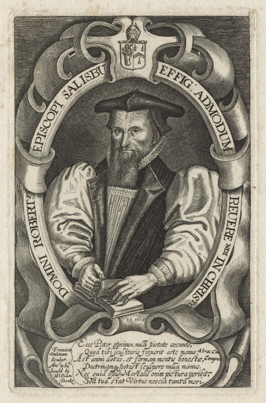 Robert Abbot, by Francis Delaram, published by  William Peake, after  Unknown artist, circa 1617-1618; published circa 1626-1639 - NPG D20862 - © National Portrait Gallery, London