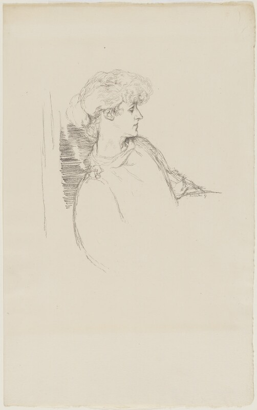 (Marion Margaret) Violet Manners (née Lindsay), Duchess of Rutland, by William Rothenstein, 1897 - NPG D20879 - © National Portrait Gallery, London