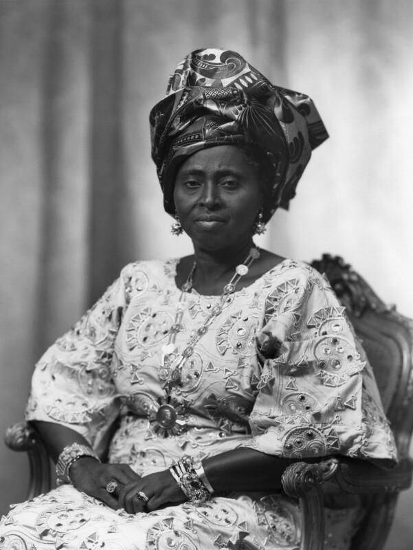 Hannah Idowu Dideolu Awolowo (née Adelana), by Bassano Ltd, 21 July 1972 - NPG x171536 - © National Portrait Gallery, London