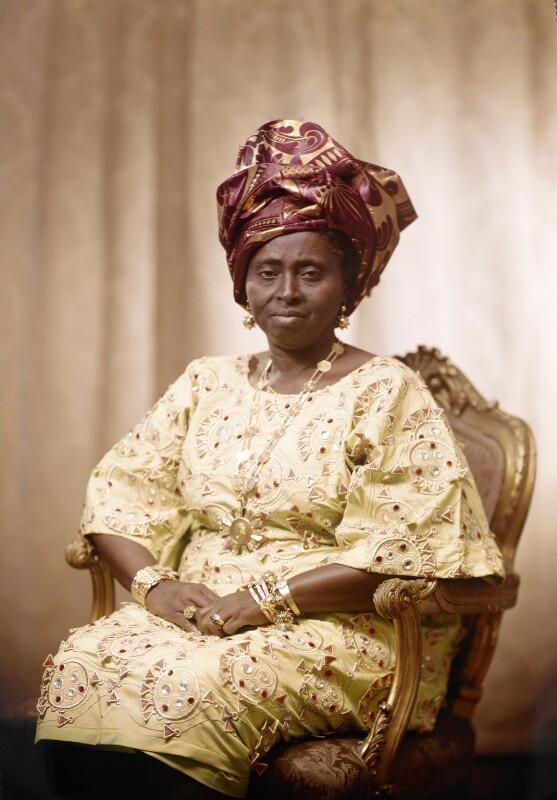 Hannah Idowu Dideolu Awolowo (née Adelana), by Bassano Ltd, 21 July 1972 - NPG x171550 - © National Portrait Gallery, London