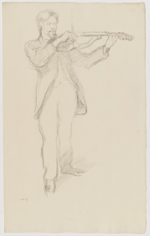 Arnold Dolmetsch, by Sir William Rothenstein, 1897 - NPG D20890 - © National Portrait Gallery, London
