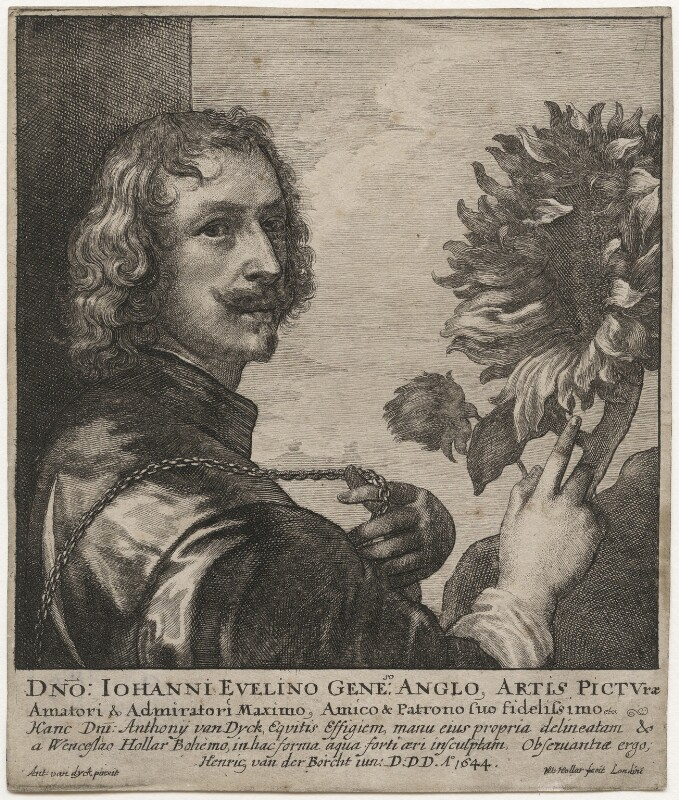 Sir Anthony van Dyck, by Wenceslaus Hollar, after  Sir Anthony van Dyck, 1644 (circa 1633) - NPG D20908 - © National Portrait Gallery, London