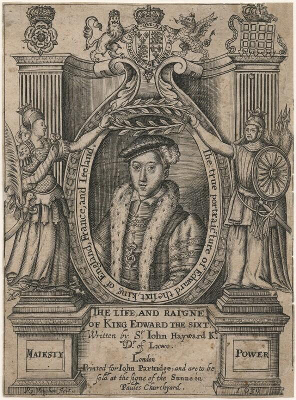 King Edward VI, by Robert Vaughan, after  Unknown artist, published 1630 - NPG D20909 - © National Portrait Gallery, London