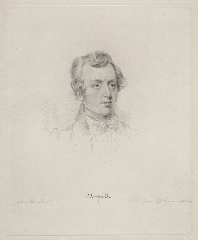 George William Frederick Howard, 7th Earl of Carlisle, by Frederick Christian Lewis Sr, after  Joseph Slater, 1830 or after - NPG D20631 - © National Portrait Gallery, London
