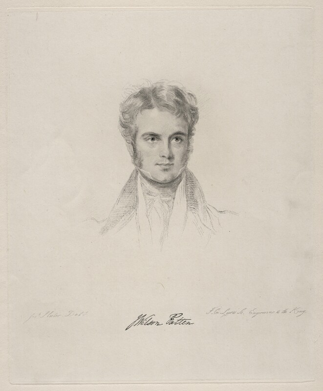 John Wilson-Patten, Baron Winmarleigh, by Frederick Christian Lewis Sr, after  Joseph Slater, 1831 or after - NPG D20633 - © National Portrait Gallery, London