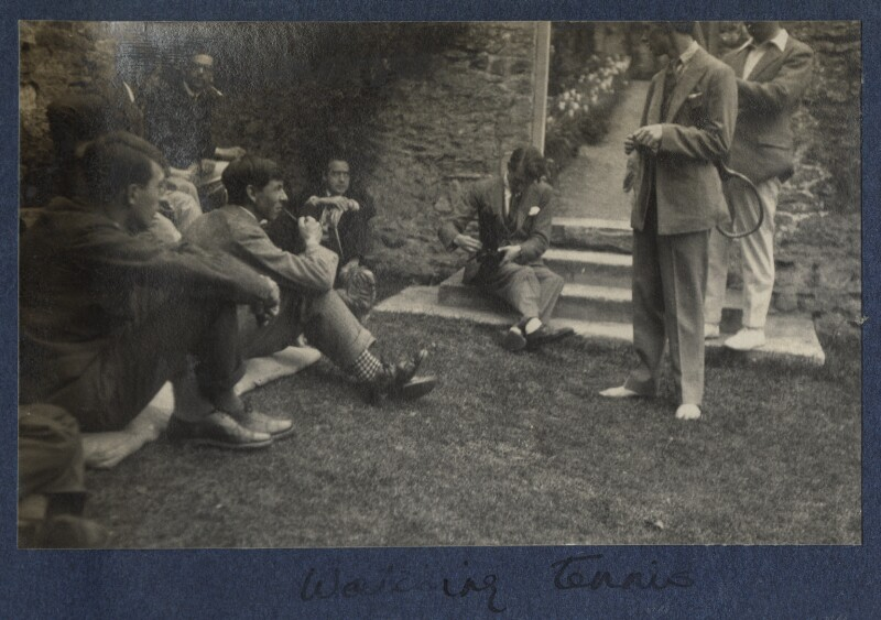 'Watching tennis', by Lady Ottoline Morrell, 1924 - NPG Ax141573 - © National Portrait Gallery, London