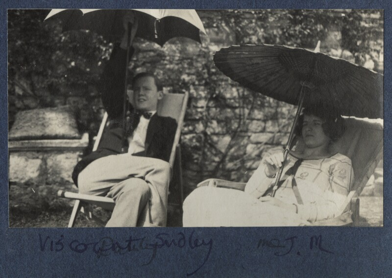 Arthur Paul Gore, 7th Earl of Arran; Julian Vinogradoff (née Morrell), by Lady Ottoline Morrell, 1924 - NPG Ax141588 - © National Portrait Gallery, London