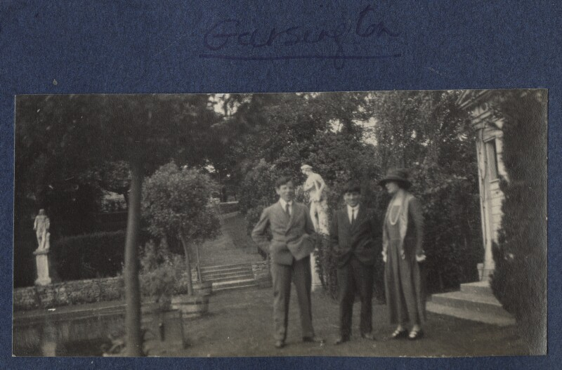 Gilbert Spencer; Sir Stanley Spencer and an unknown woman, by Lady Ottoline Morrell, 1923-1924 - NPG Ax141644 - © National Portrait Gallery, London