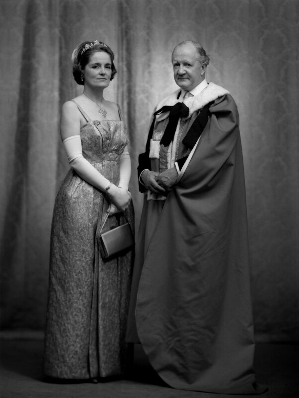 Rachel Cecilia (née Bingham), Lady Alport; Cuthbert James McCall ('Cub') Alport, Baron Alport, by Bassano Ltd, 9 November 1965 - NPG x172162 - © National Portrait Gallery, London