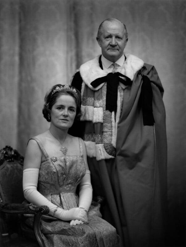 Rachel Cecilia (née Bingham), Lady Alport; Cuthbert James McCall ('Cub') Alport, Baron Alport, by Bassano Ltd, 9 November 1965 - NPG x172164 - © National Portrait Gallery, London