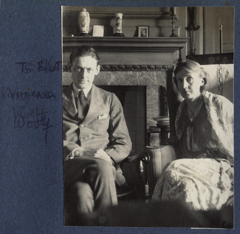 T.S. Eliot; Virginia Woolf, by Lady Ottoline Morrell, June 1924 - NPG Ax141646 - © National Portrait Gallery, London