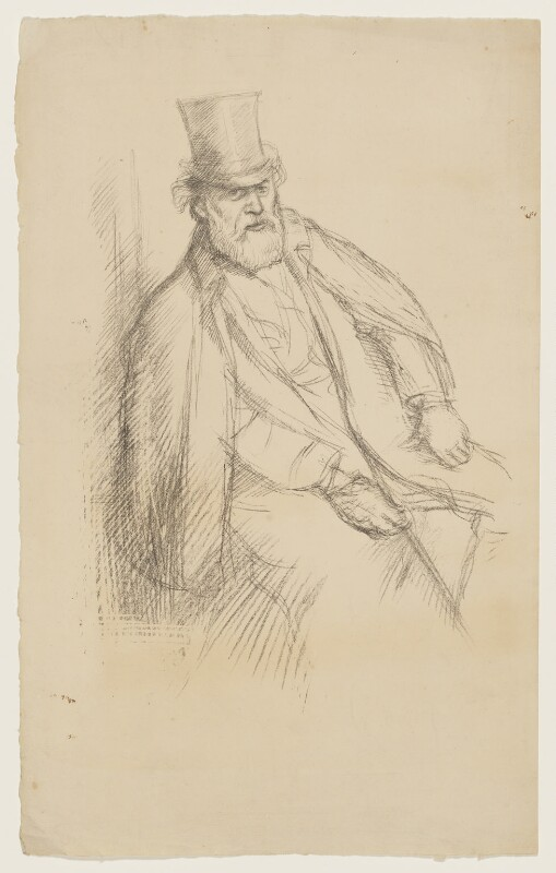 Alphonse Legros, by William Rothenstein, 1897 - NPG D20931 - © National Portrait Gallery, London